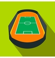 Open soccer field flat icon vector image vector image