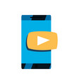 phone video player button vector image