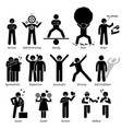 positive personalities character traits stick vector image