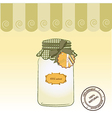 pure biological food jar vector image
