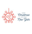 red christmas ball and quarantine coronavirus vector image