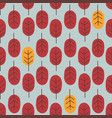 seamless abstract autumn tree pattern forest vector image