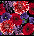 seamless floral pattern with autumn flowers vector image