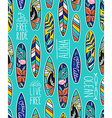 seamless pattern with bright surfboards vector image