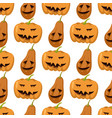 seamless pattern with pumpkins thanksgiving autumn vector image vector image