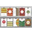 set creative vintage card templates best vector image vector image