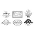 set logos for workshop and blacksmiths vector image