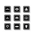 set of concept bakery products buttons vector image