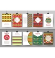 Set of creative vintage card templates Best vector image