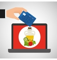 shopping online concept order fresh food vector image