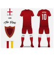 soccer jersey or football kit template vector image vector image