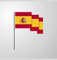 spain waving flag creative background vector image