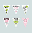 stock design cover for pizza slice boxes vector image vector image