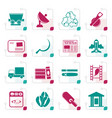 stylized business and industry icons vector image vector image