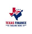 texas city financial data logo vector image