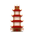 traditional chinese building pagoda ancient vector image vector image