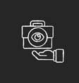 transparent chalk white icon on black background vector image vector image
