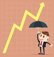 Up yellow arrow economic growth vector image vector image