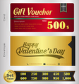Valentine Day Gift voucher template vector image