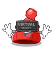 virtual reality photo of a cartoon woolen beanie vector image