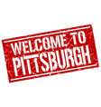 welcome to pittsburgh stamp vector image vector image