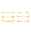 wheat spikes set icon with design elements vector image