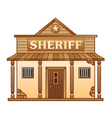 Wild West Sheriffs office vector image vector image