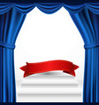 winners podium theater curtain awards vector image vector image