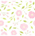 cute peony and leaves background vector image