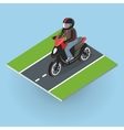 Motor Bike on the Road Top View vector image