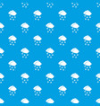 cloud and snowflakes pattern seamless blue vector image