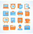 Flat icon set office and business symbols vector image
