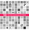 100 seamless patterns - big set different vector image
