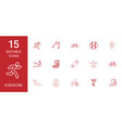 15 exercise icons vector image vector image