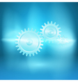 Abstract blue background with gear transmission vector image vector image