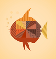 Abstract fish3 vector image vector image