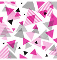 abstract modern pink black triangles pattern vector image vector image
