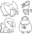 african animals set for coloring vector image vector image