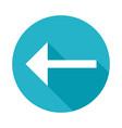 arrow left icon vector image