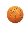 basketball orange symbol vector image vector image
