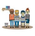 business coworkers cartoon vector image vector image
