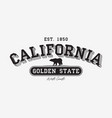 california modern typography for t-shirt vector image vector image