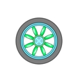 Car wheel icon in cartoon style vector image vector image