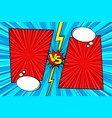 cartoon comic background fight versus comics vector image
