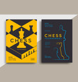 chess tournament posters set template with board vector image vector image