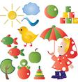 children graphic vector image