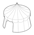 Circus tent icon outline style vector image vector image