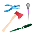Collection of Various Craft Tools vector image