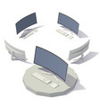 computer curved screen vector image