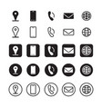contact information icons vector image